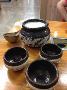 Makgeolli, Korean rice wine.