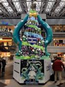 The Snow Miku tree at the New Chitose airport.
