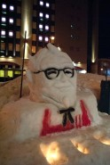 Even the local KFC got in on the snow sculpture action.