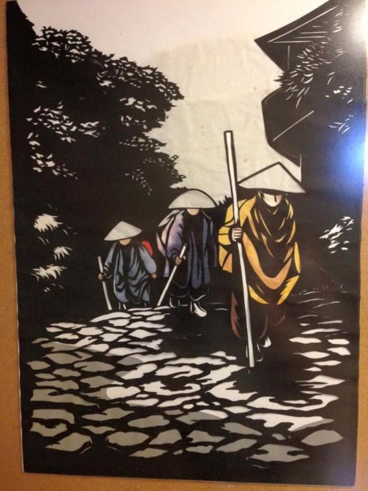 Pilgrim painting at Tabana-kan