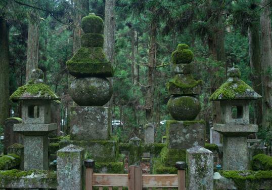 Takeda Shingen grave at Okunoin