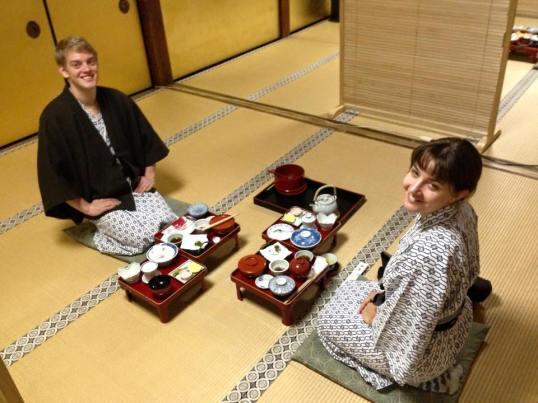 Dinner at Shojoshin-in
