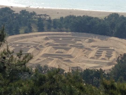 Zenigata Sand Sculpture