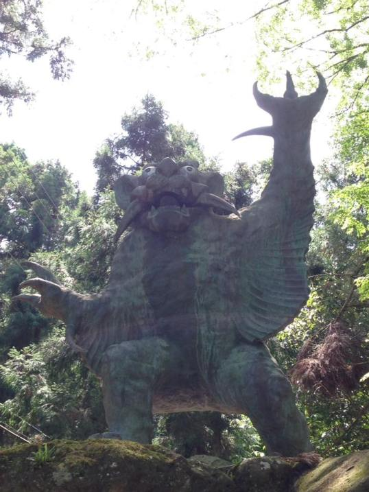 Ox-Demon statue at Temple 82